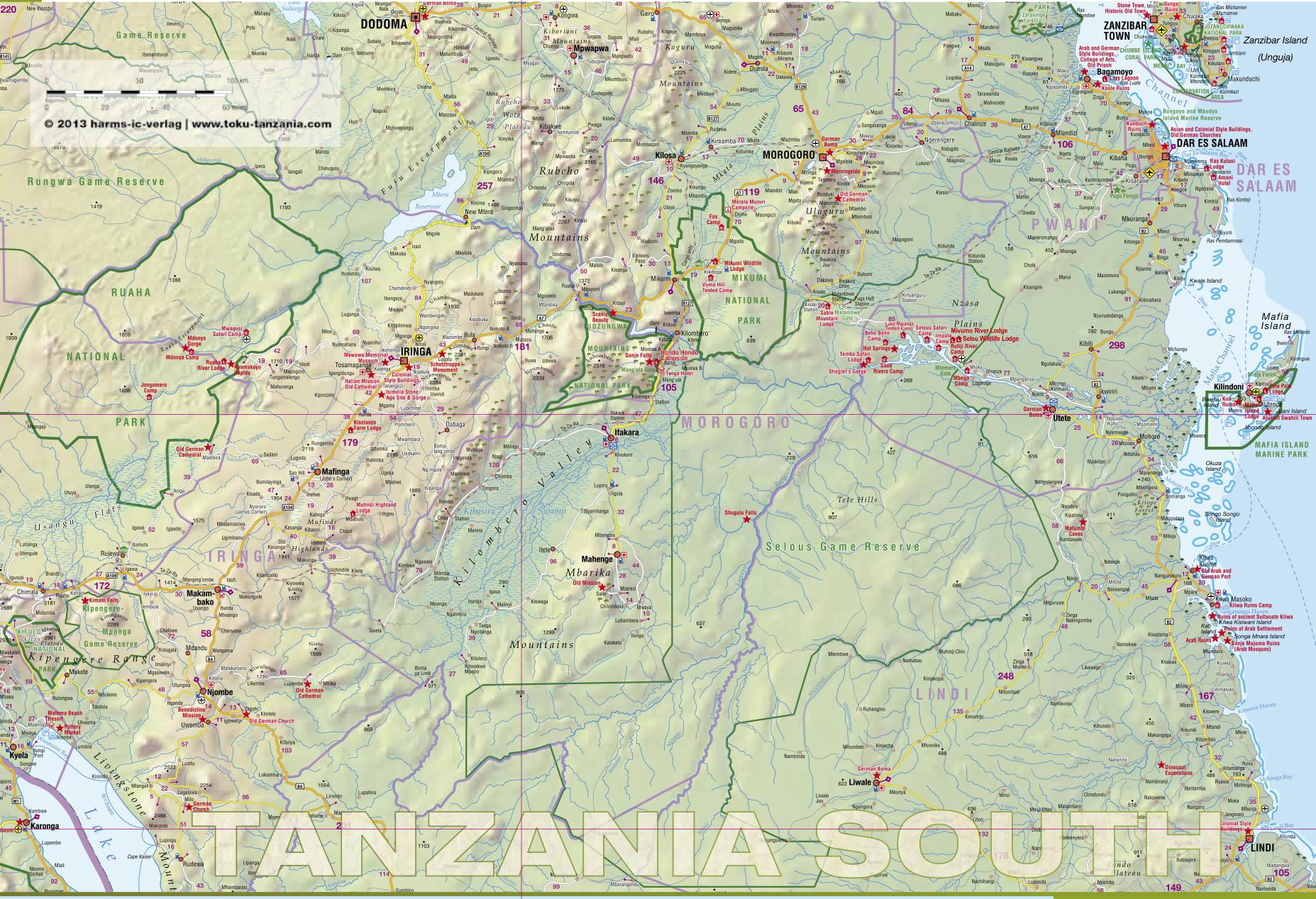 Mapa TZ PLD