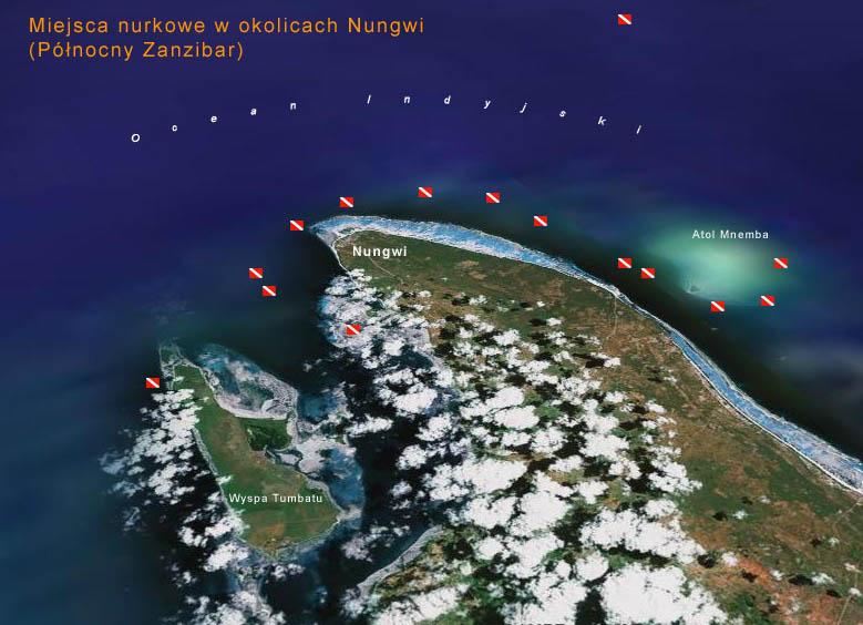 Mapa nurkowa Nungwi